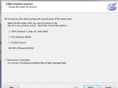 VMFS Recover 3.4 Screenshot