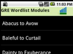 Vocabulary Builder for GRE 1.0 Screenshot