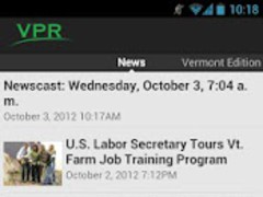 VPR Android App  Screenshot
