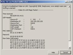 Wake-on-LAN Packet Sniffer 1.2 Screenshot
