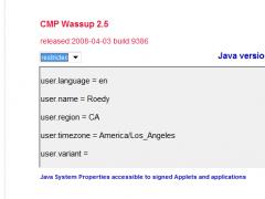 Wassup 2.6 Screenshot