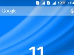 Waves Blue XZ Theme 1.0.3 Screenshot