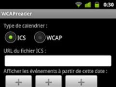 WCAP calendar reader 1.2.4 Screenshot