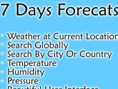 Weather forecast app - 7 days Free weather forecasts for your current location and all over the world 2.1 Screenshot