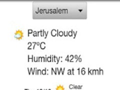 Weather Israel Lite 2.0.1 Screenshot