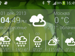 Weather Widget B&W style 1.0 Screenshot