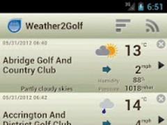 Weather2Golf 1.0.6 Screenshot