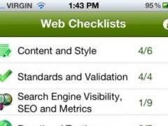 Web Design Checklists 1.0 Screenshot
