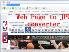 Web Page To JPG Converter 4.1 Screenshot