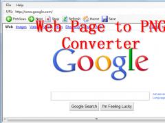 Web Page To PNG Converter 4.1 Screenshot