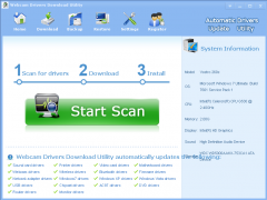 Webcam Drivers Download Utility 3.5.1 Screenshot