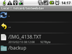 WebDavDroid 1.0.0 Screenshot