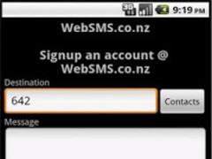 WebSMS NZ/AU/ZA 7 Screenshot