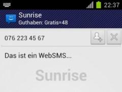 WebSMS: Sunrise Connector 1.12 Screenshot