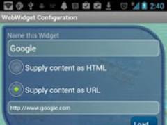 WebWidget BETA  Screenshot