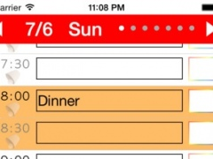 Week Table Free - Weekly schedule planner / Timetable /Time scheduler / Plan of 24 hours and organize for good daily. 2.0 Screenshot