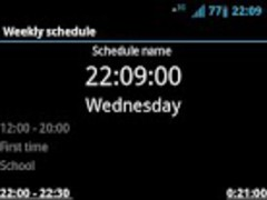 Weekly schedule Donate 2.0 Screenshot