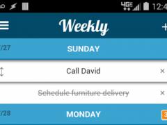 Weekly - Simple Todo List 1.2 Screenshot