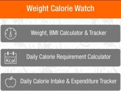 Weight Calorie Watch 1.0.6 Screenshot