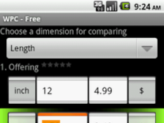 Weight Price Comparator 1.3 Screenshot