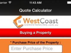 West Coast Conveyancing Quote 8.0 Screenshot