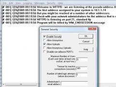 WFTPD - Windows FTP Server 3.10R Screenshot