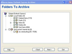 WheresJames Outlook Express Archiver 1.34 Screenshot