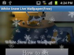 White Snow Live Wallpaper_free 1.9 Screenshot