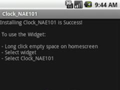 Widget Clock_NAE101 1.0.1 Screenshot