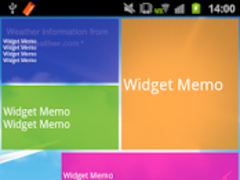 Widget Memo 1.2.1 Screenshot