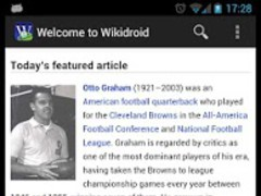 Wikidroid for Wikipedia  Screenshot