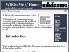 WiKissMe wiki content management system 0.7 Screenshot