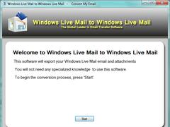 Windows Live Mail to Windows Live Mail 1.3.1.0 Screenshot