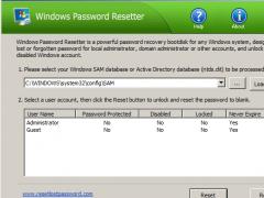 Windows Password Resetter 1.7 Screenshot