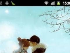 Winter Kiss live wallpaper 1.1 Screenshot