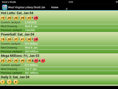 Wisconsin Lottery Droid Lite 1.26 Screenshot