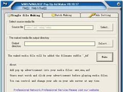 WMV/WMA/ASF Pop Up Ad Maker 8.10.17 Screenshot