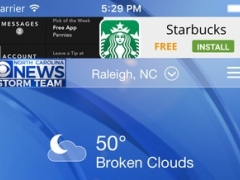 WNCN WX – weather, radar, and forecast for Raleigh, Durham, North Carolina 4.2.1206 Screenshot