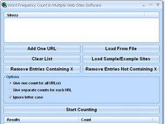 Word Frequency Count In Multiple Web Sites Software 7.0 Screenshot