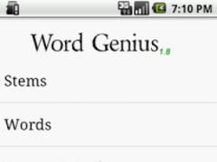 Word Genius 1.8 Screenshot