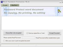 Word Password Protector 6.0 Screenshot