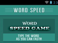 Word Speed Game 1.0 Screenshot