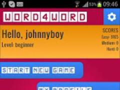 Word4Word Unique Word Game 1.6 Screenshot
