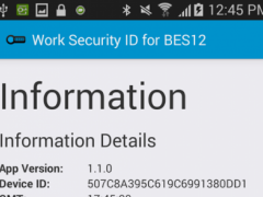 Work Security ID for BES12 1.3.0 Screenshot