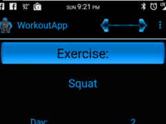 WorkoutApp 1.9 Screenshot