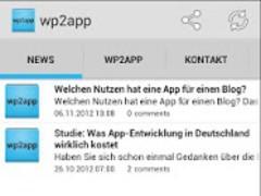wp2app 1.2 Screenshot