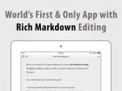 Write for iPad - A Note Taking and Markdown Writing App 2.6.1 Screenshot