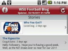 WSU Football Blog 2.9 Screenshot
