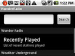 Wunder Radio 1.9 Screenshot