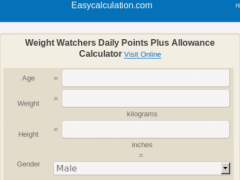 Ww daily points calculator